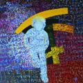 Kitörés, 1987, a, v, 130x125 cm