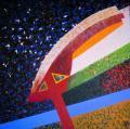 Angyal érkezik (Hírnök), 1987 a, v, 82x82 cm