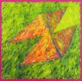 Napfényben, 1998, a, m papír, 75x75 cm