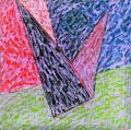Angyal érkezik, 1998, a, v, 75x75 cm (Miki)