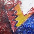 Angyal született, 1996, a, m papír, 72x72 cm