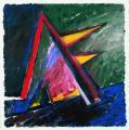 Angyal érkezett, 1998 a, m papír, 75x75 cm