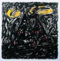Éjszakai angyal (Matyó), 1998, a, m papír, 75x75 cm