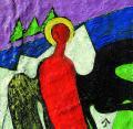 Városvédő angyal, 1998, a, m papír, 10x10 cm
