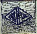Angyal-pár, 1996, filctoll, papír, 13x13 cm