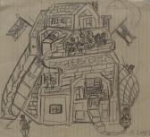 1956, 1957, c, papír, 14x15,5 cm