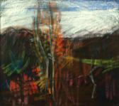 Tájkép, 1970, p, papír, 51x57 cm