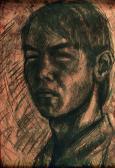 Önarckép, 1966, sz, papír, 50x36 cm