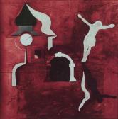 Szentendre, 1972, kollázs, tempera, v, fa, 135x132 cm