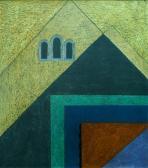 Város, 1973, o, p, farost, 80x65 cm