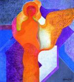 Városvédő angyal, 1975, o, p, farost, 76x65 cm