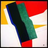 Murális tanulmány II., 1979, a, p, rétegelt lemez, 74x73 cm.