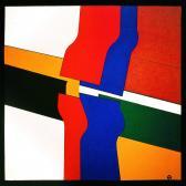 Murális tanulmány IV., 1979, a, p, rétegelt lemez, 74x73 cm.