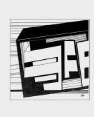 Születés, 1981, tollrajz, papír, 48x32 cm