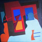 Zsennyei ablakrovás, 1985, a, v, 50x50 cm