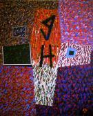 In memoriam I., 1986, a, v, 153x120 cm.