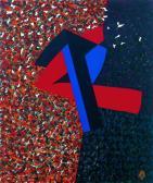 Nagy utazás, 1987, a, v, 64x54 cm (Miki)