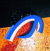 Zuhanó angyal, 1987, a, v, 95x90 cm