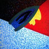 Kapcsolat, 1988, a, v, 140x140 cm