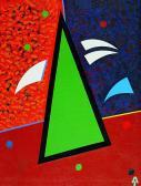 Zöld angyal, 1990, a, v, 60x45 cm