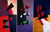 Erdélyi trilógia 01 (Triptichon), 1988, a, v, (3x) 200x100 cm