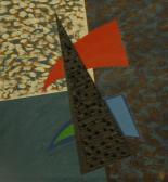 A gyilkos háromszög, 1990, a, v, 28,5x26,5 cm