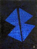 Kék angyal, 1992, a, v, 19x15 cm