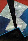 A látogató, 1994, kollázs, vegy tech, 14,5x10,5 cm