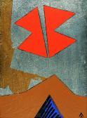 Szentendre fölött, 1996, a, arany, ezüst, fa, 29x18 cm