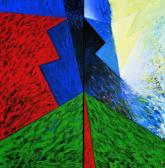 Kitörés (Diptychon), 1997, a, v, (2x) 210x110 cm