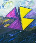 Hajnali angyal, 1998, a, v, 60x50 cm (Miki)