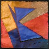 Útközben, 1998, a, m papír, 75x75 cm (Miki)