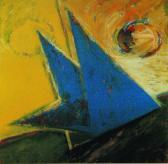 Ég és föld között, 1998, a, m papír, 75x75 cm