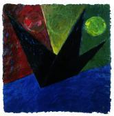 Látogató, 1998, a, m papír, 75x75 cm
