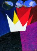 Angyalpár, 1997, a, v, 40x30 cm