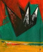 Cél előtt (Angyal), 1994, a, m papír, 39x33 cm
