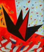 Utazó angyal, 1996, a, v, 100x80 cm