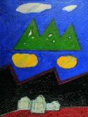 Hajnali angyal, 1998, a, m papír, 23x18 cm