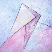 Kapcsolat V., 1997, a, m papír, 150x150 cm.
