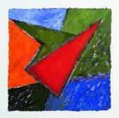 Kitörés, 1998, a, m papír, 75x75 cm