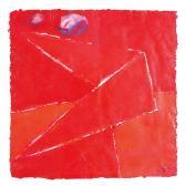 Vörös ruhás angyal, 1998, a, m papír, 75x75 cm