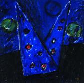 Felhők előtt, 1998, a, m papír, 79x79 cm (Miki)