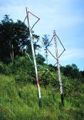 Angyalok, 1997 festett fa, ágak, poliésztergyanta, mag 5 m, mag 4 m