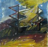 Dolmári angyalok, 1997, a, m papír, 75x75 cm