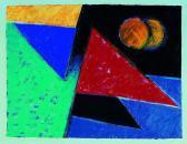 Nagy utazás, 1999, a, m papír, 50x70 cm