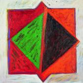 Angyalok, 1997, a, v, 40x40 cm