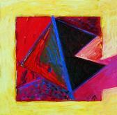 Bíbor angyal, 1997, a, v, 40x40 cm