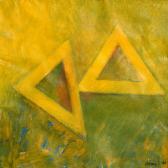Angyal-pár, 1996, a, m papír, 75x75 cm