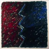 Kapcsolat, 1995, a, m papír, 75x75 cm (Miki)