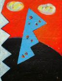 Kapcsolat (Hírnök), 1998, a, m papír, 150x120 cm